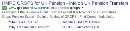 Anuncio de texto expandido que aparece en los resultados de Google tras una búsqueda