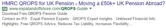 Anuncio estándar de Google que aparece en los resultados tras realizar una búsqueda