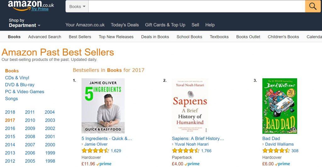 Los más vendidos libros de Amazon